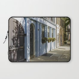 Charleston SC No. 4  Rainbow Row Laptop Sleeve