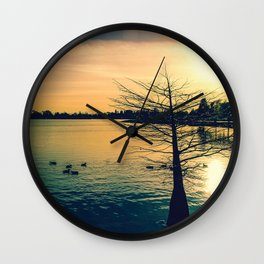 Going Home (Winter Lake at Dusk) Wall Clock