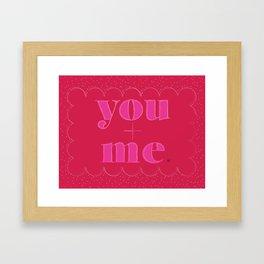 you+me valentine Framed Art Print