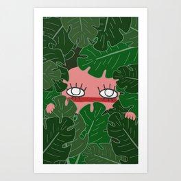 Peek-A-Boo! Art Print