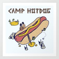 camp Art Prints featuring CAMP by Laura O'Connor