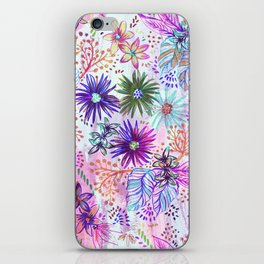 Eden Floral Multi White iPhone Skin