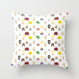 ff 9 pattern Throw Pillow