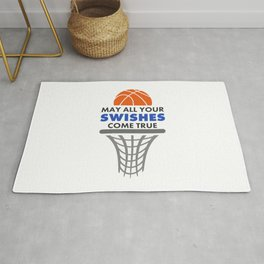 Basketball May All Your Swishes Come True College Player Rug