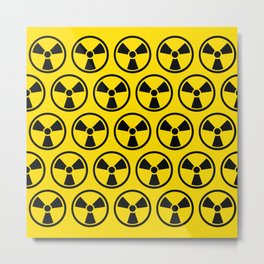 Radioactive Pattern Metal Print