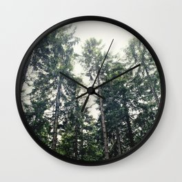 Up In The Woods Wall Clock
