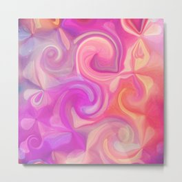 pink and orange swirls Metal Print
