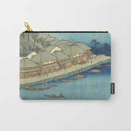 Utagawa Hiroshige, Ishiyama Temple, Lake Biwa, Omi Province - Vintage Japanese Woodblock Print Art 1853 Carry-All Pouch