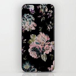 Dark Floral Pink iPhone Skin