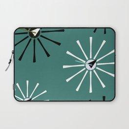 Fifties Kitchen Pattern Emerald Laptop Sleeve