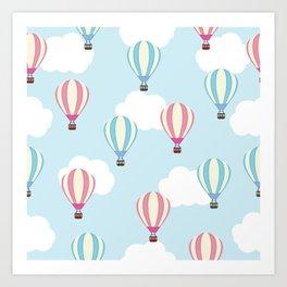 Balloons in the Sky Art Print
