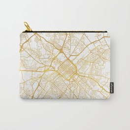 CHARLOTTE NORTH CAROLINA CITY STREET MAP ART Carry-All Pouch
