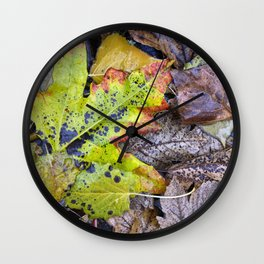Rainy Leaves. Forest Dreams Wall Clock