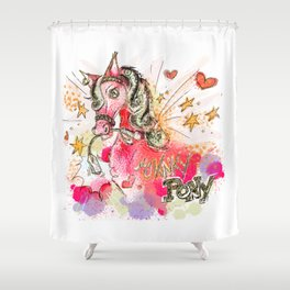 My Kinky Pony Shower Curtain