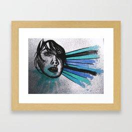 Facial Expressions Framed Art Print