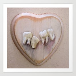 untitled (with charlie's teeth) Art Print