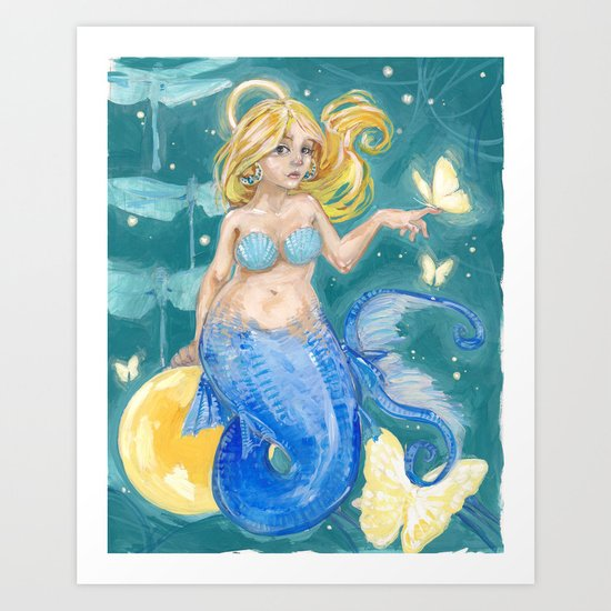 Glowmaid Art Print