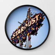 Vintage Stardust Sign, Las Vegas Wall Clock