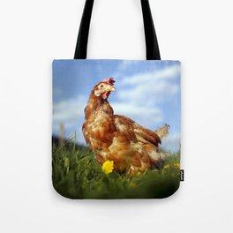 Rescued hen | Animal photography | Farm sanctuary animal portrait Tote Bag