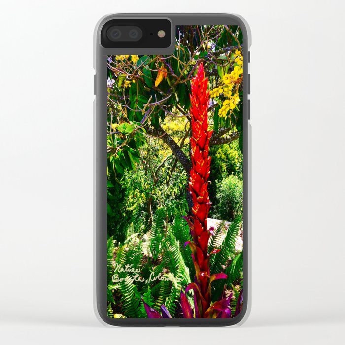Alpinia purpurata – Red Ginger Flower, Nature in Bogota, Colombia Clear iPhone Case