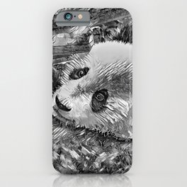 AnimalArtBW_Panda_20180102 iPhone Case