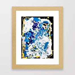 abstraction dripping water Framed Art Print