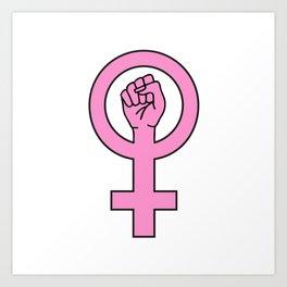 Pink female sign Art Print