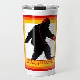 Retro Sasquatch Travel Mug