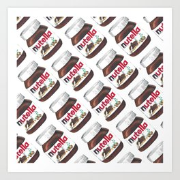 Nuts for Nutella Art Print