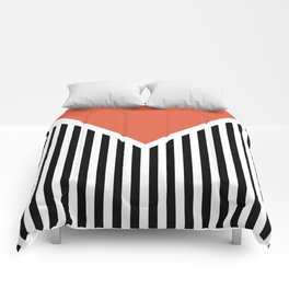 Orange triangle Comforters