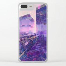 Blue Dream 05 Clear iPhone Case