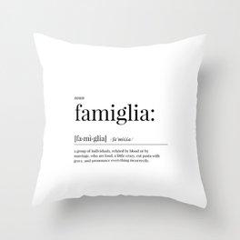 Famiglia Definition Throw Pillow