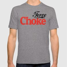 Force Choke LARGE Tri-Grey Mens Fitted Tee