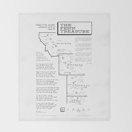 Fenn Treasure Map Infographic Throw Blanket