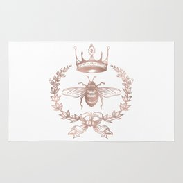Queen Bee in Rose Gold Pink Rug
