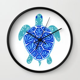 Sea Turtle – Blue Palette Wall Clock