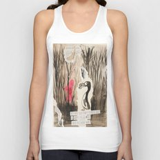 Little Red and Great Auk Unisex Tank Top