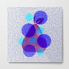 Pear in blue Metal Print