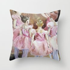 Before the Dance - Ballet Series Throw Pillow