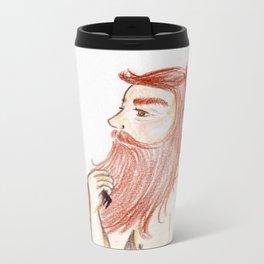 Luxurious Beard Mountain Man Metal Travel Mug