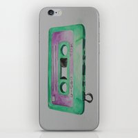 cassette iPhone & iPod Skins featuring Cassette by TrishRay