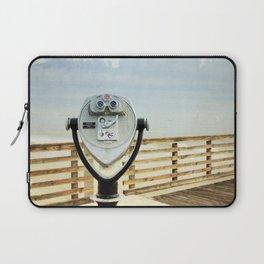 Jacksonville Beach Pier View Finder Laptop Sleeve