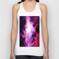 nebula Tank Tops featuring Orion NebuLa. Purple Fuchsia Galaxy by 2sweet4words Designs