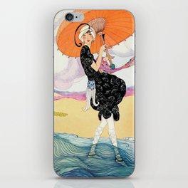 Vintage Magazine Cover - Windy Beach iPhone Skin