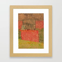 mantelpiece (crooked) Framed Art Print