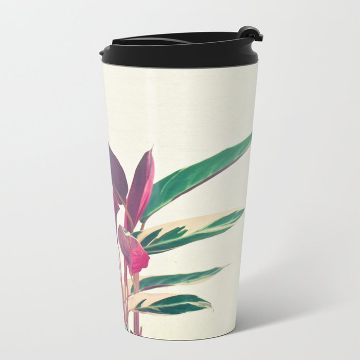 Prayer Plant Metal Travel Mug