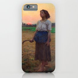 Jules Breton - Song of the Lark iPhone Case