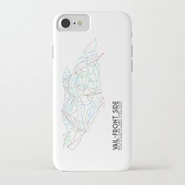 Vail, CO - Front Side - Minimalist Trail Map iPhone Case