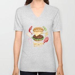 Burger Mandala Unisex V-Neck