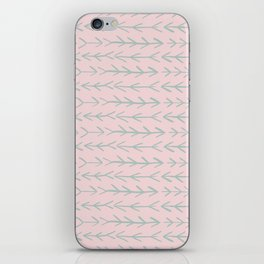 Contemporary Pink and Mint Arrow Pattern iPhone Skin